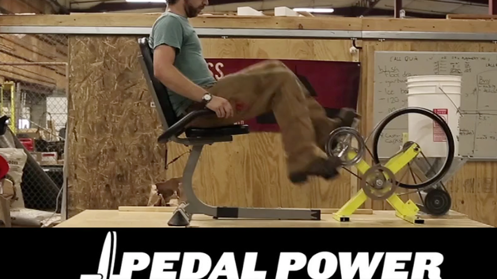 Pedal Power -- Human Scale Energy For Everyday Tasks project video thumbnail