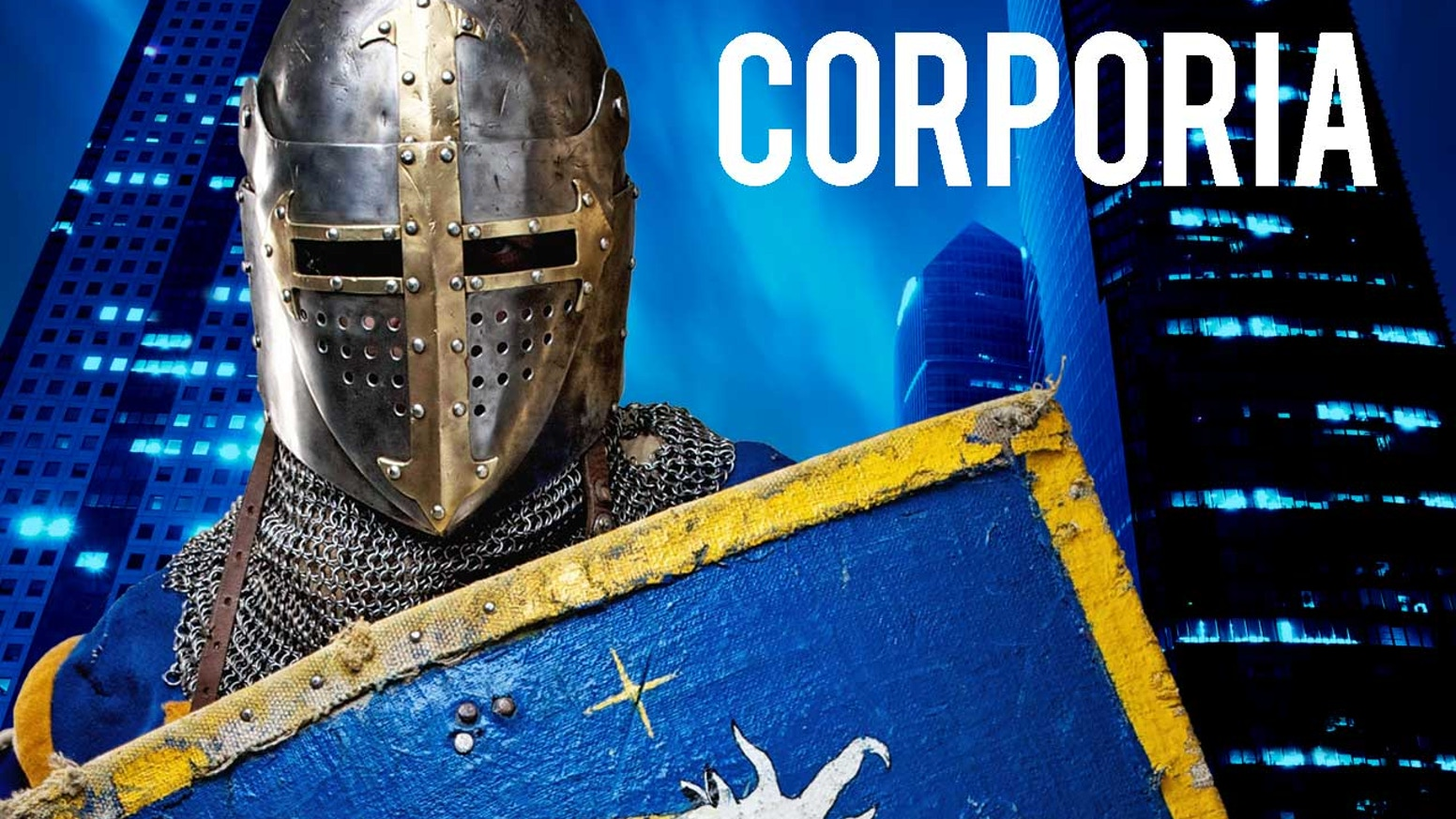 Corporia is an urban fantasy RPG from award-winning writer Mark Plemmons. It's suits with swords in this futuristic return of Camelot!