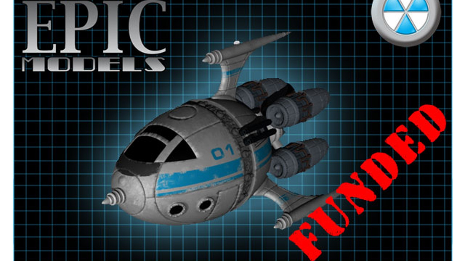 The ISW-69F Scoutship is a 1/48 scale multi-piece resin and pewter kit suitable for many sci-fi tabletop games.