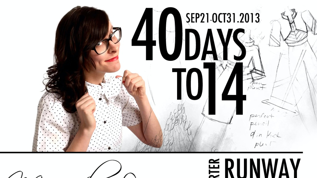 Miranda Levy of Project Runway 2014 Collection project video thumbnail