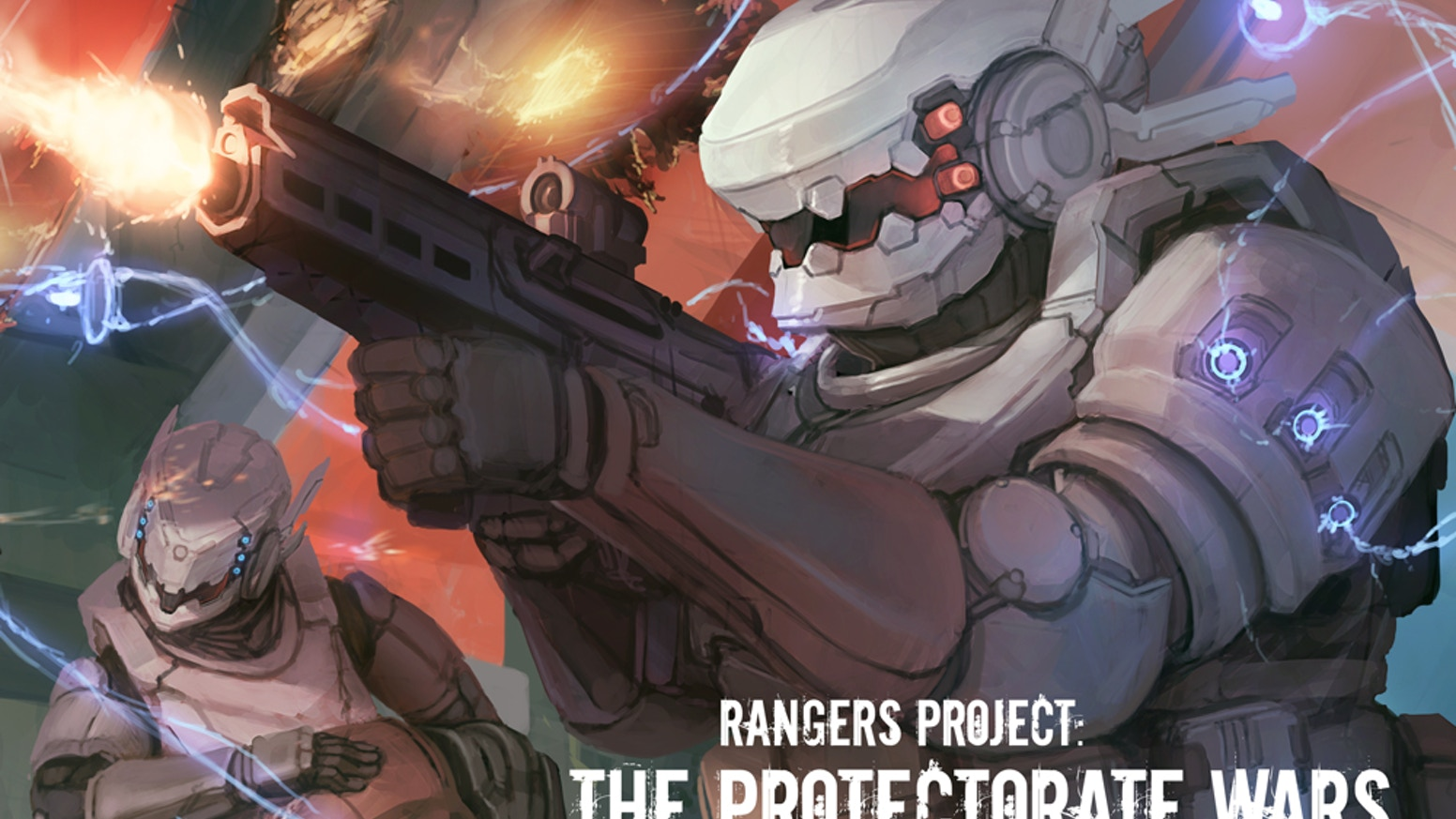 Filled with illustrations and fiction, The Protectorate Wars digital art book presents a view of conflict among the stars.