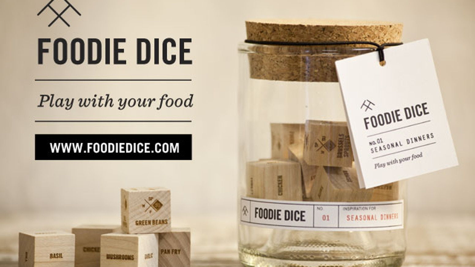 A fun new way to shake up your cooking routine, Foodie Dice is a set of 9 dice designed to inspire creative, whole-ingredients meals.