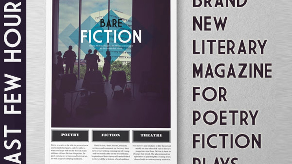 Bare Fiction Magazine Launch Issue - Poetry, Fiction, Plays project video thumbnail