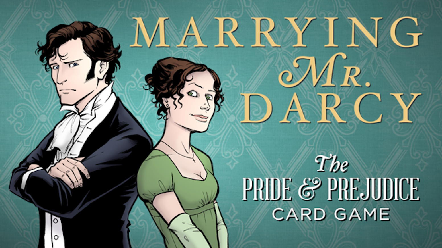 "Marrying Mr. Darcy is a role-playing/strategy card game for 2-6 players, based on Jane Austen's novel ""Pride and Prejudice."""