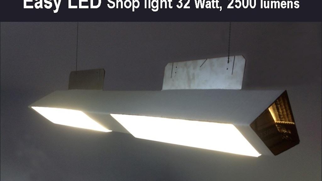 world lamp 32watt led shop light low cost eco friendly by tim chen kickstarter. Black Bedroom Furniture Sets. Home Design Ideas