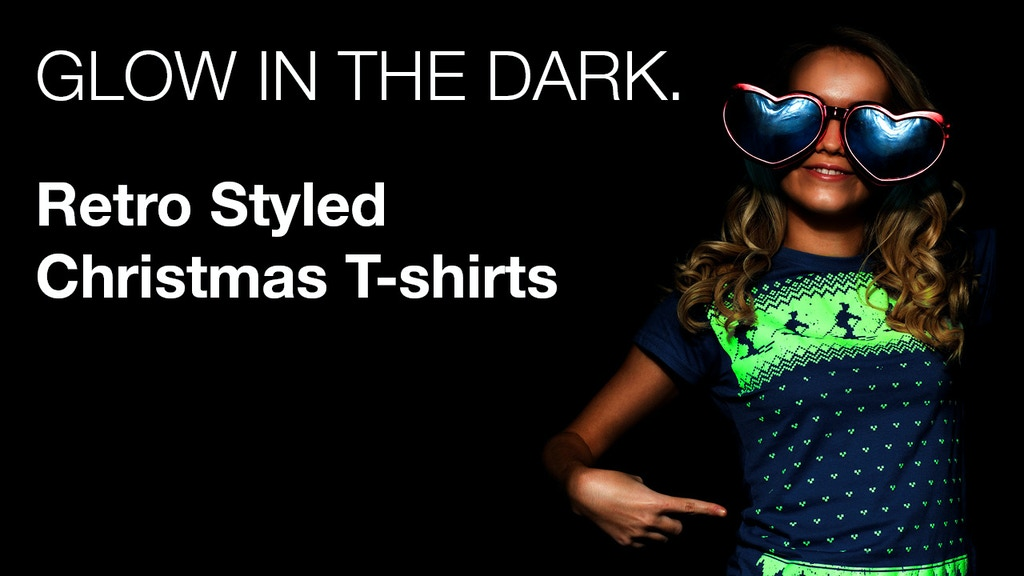 glow in the dark funky retro christmas t shirts project video thumbnail