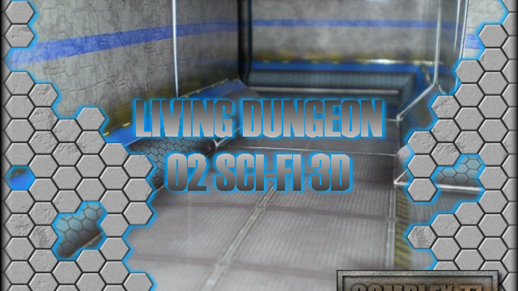Project image for Living Dungeon Tile Set 02, Sci-Fi 3D