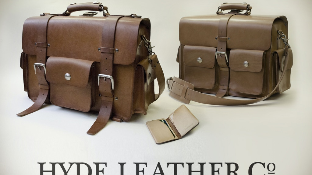 HYDE classic leather bags, wallets and such. project video thumbnail