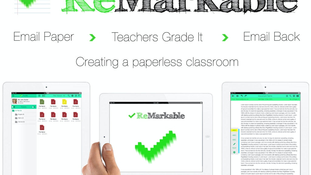 ReMarkable - An iPad app for teachers to receive/mark/grade project video thumbnail
