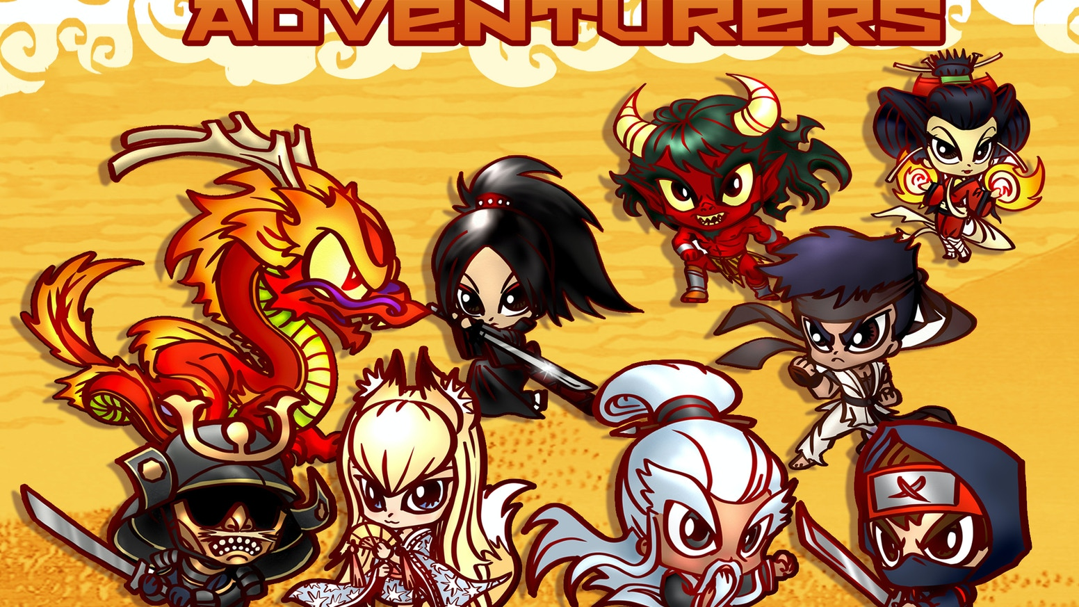 A miniatures line featuring Asian themed RPG heroes, villains and monsters in chibi anime style.