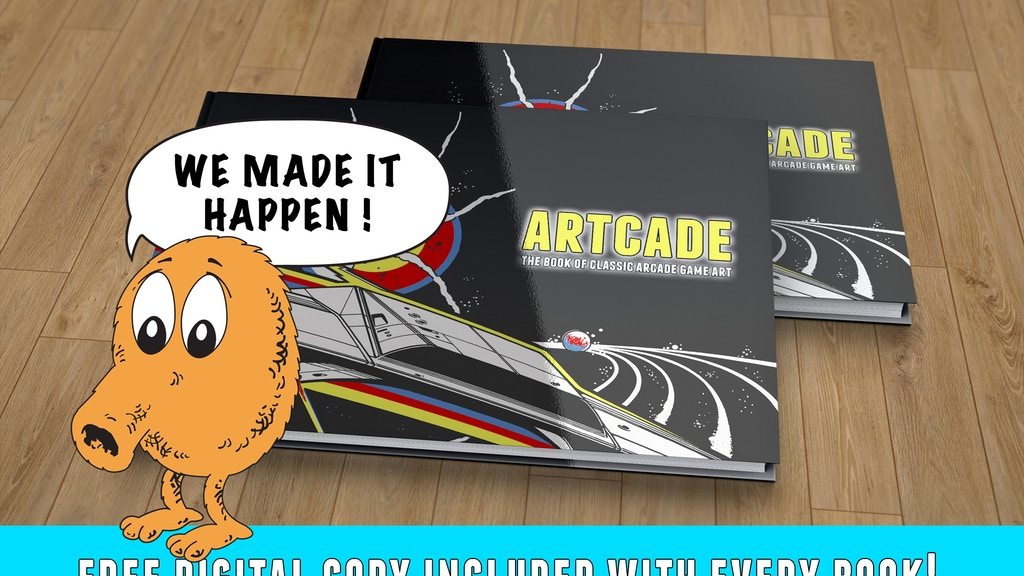 ARTCADE - The Book of Classic Arcade Game Art by Tim Nicholls