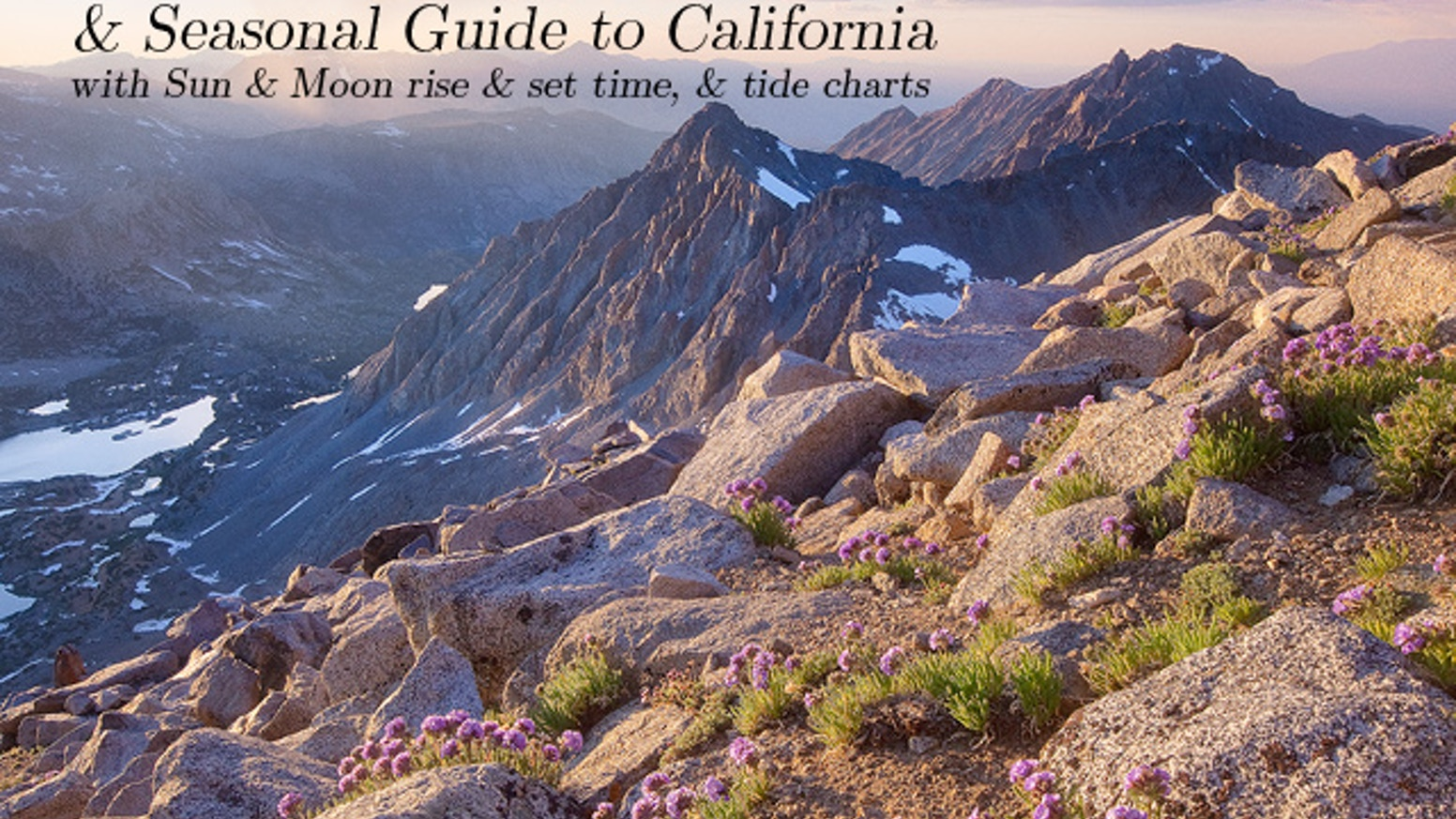 2014 Calendar & Seasonal Guide to Washington and California by
