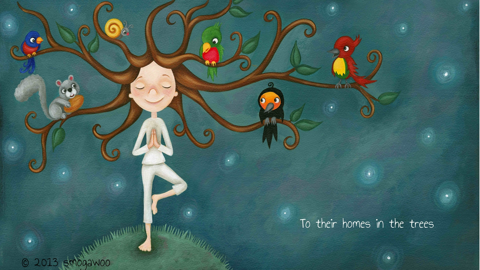 Good Night Yoga. A yoga book for children that teaches them their own flow  of poses to do at bedtime or anytime!
