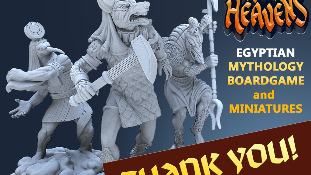 Let's manufacture plastic and resin miniatures for the expansion sets. If successful, even previous backers get these minis!