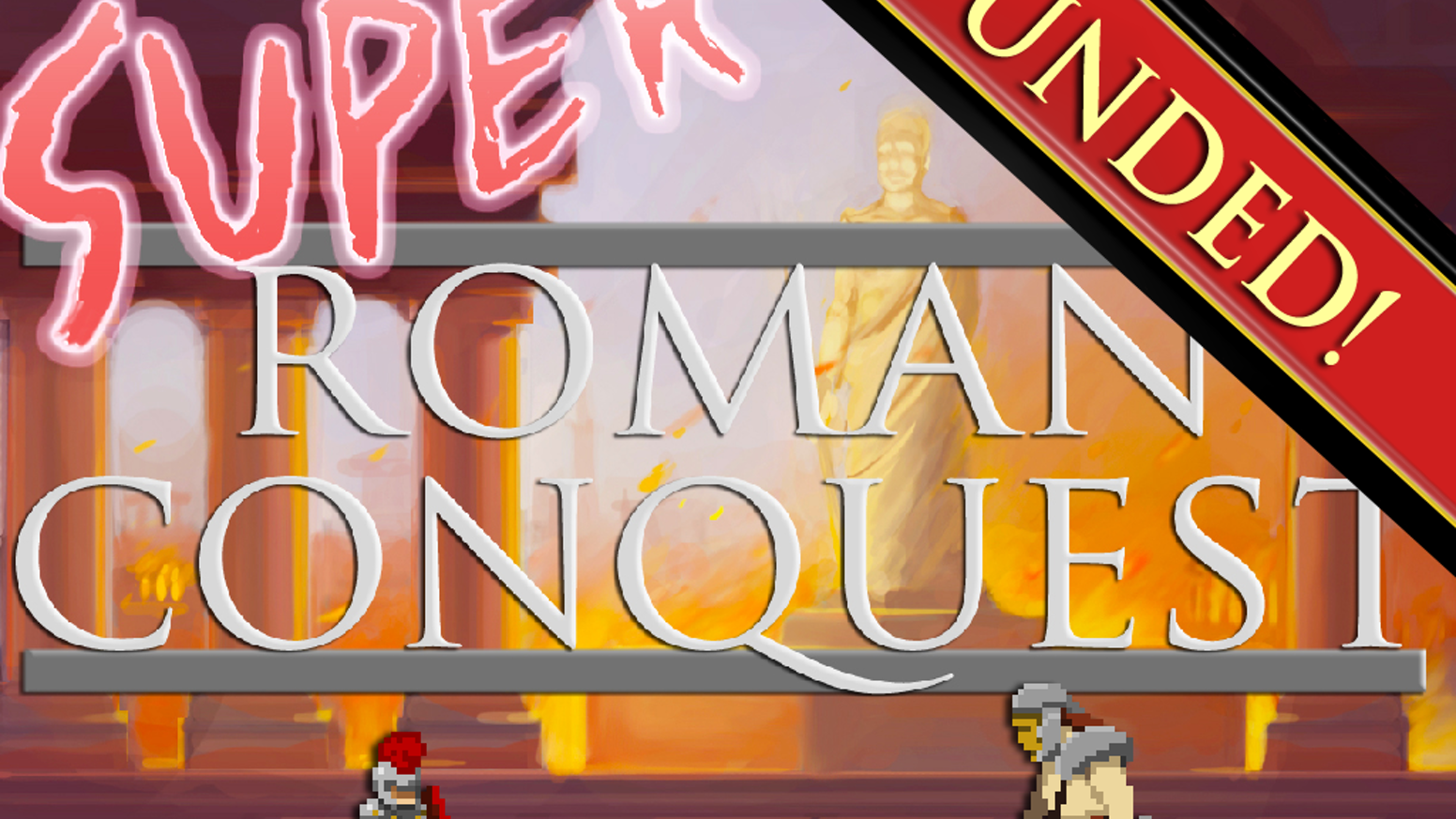 Super Roman Conquest is a retro side-scrolling RTS that takes place in a multi-layered, 3D world set in Ancient Rome.