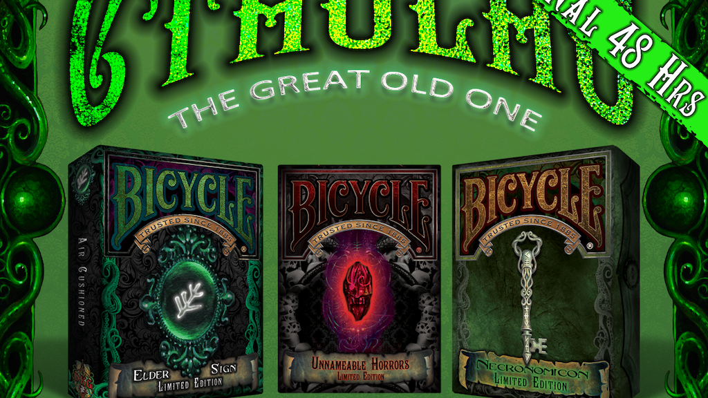 NEW Cthulhu Bicycle® Playing Card Decks project video thumbnail