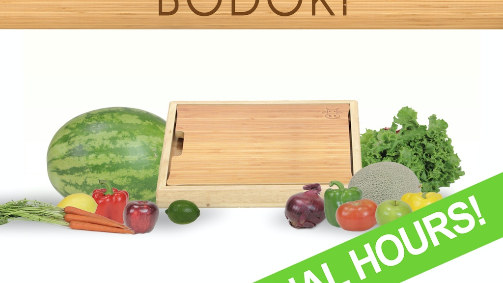 Bodoki: the no-mess cutting board that does more! project video thumbnail