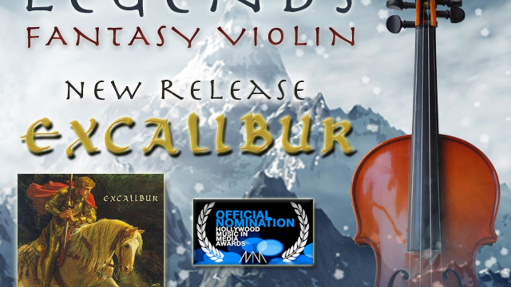 """Legends: Fantasy Violin"" CD & new single ""Excalibur"" project video thumbnail"