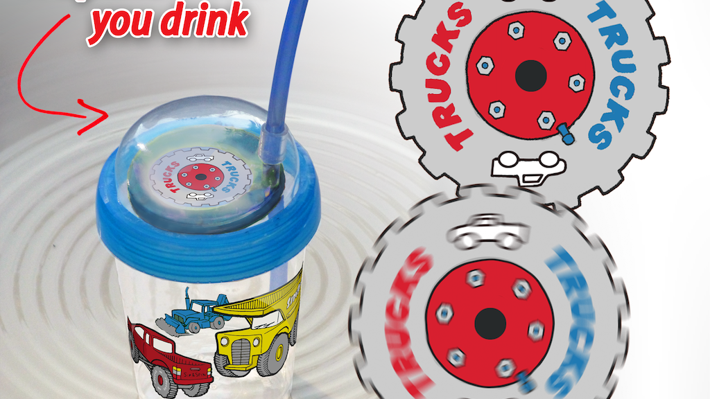 Sip & Spin Cup: The fun of a pinwheel in a straw cup. project video thumbnail