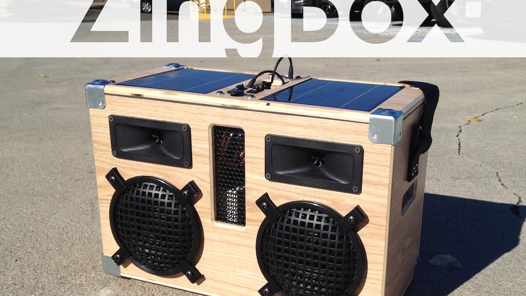 ZingBox: A Solar Powered Boom Box project video thumbnail