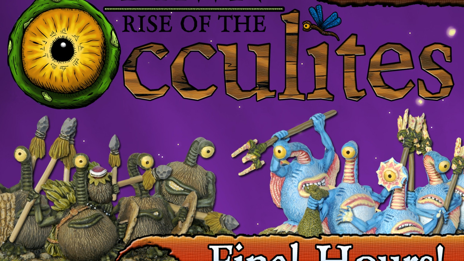 A unique and thematic miniatures board game featuring tribes of endearingly quirky creatures called Occulites!
