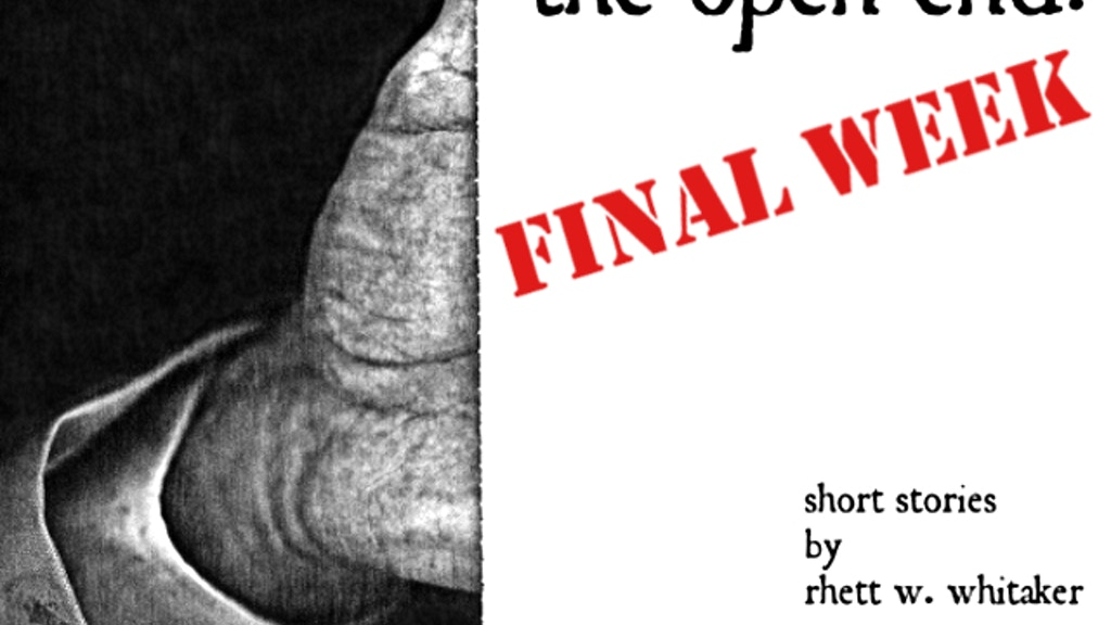 The Open End:  A Book of Maddeningly Short Stories project video thumbnail