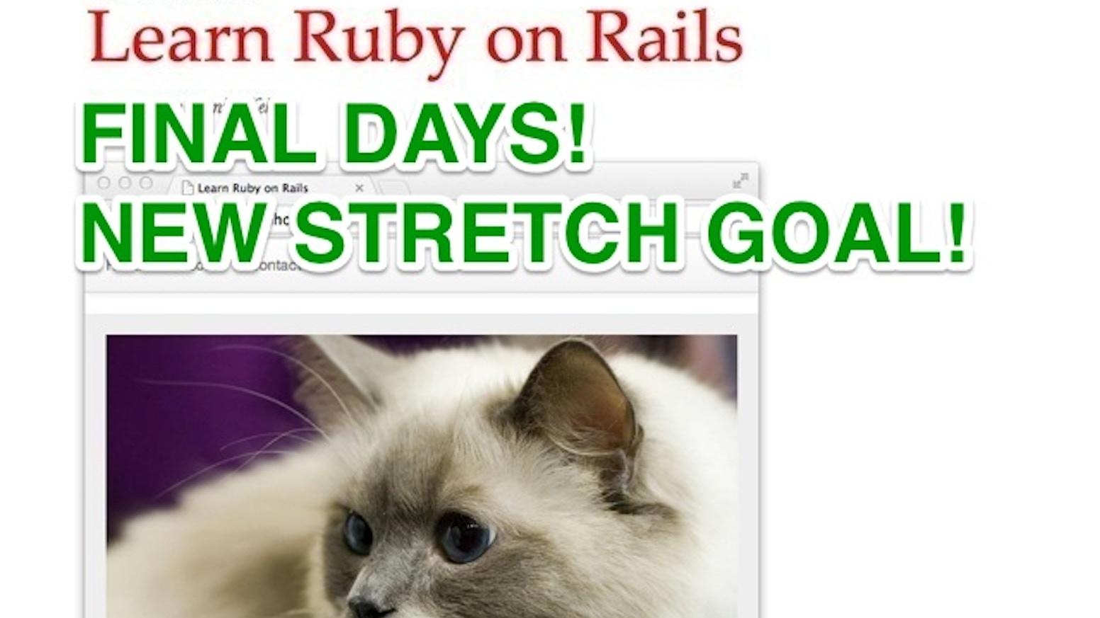 Learn Ruby on Rails by Daniel Kehoe — Kickstarter