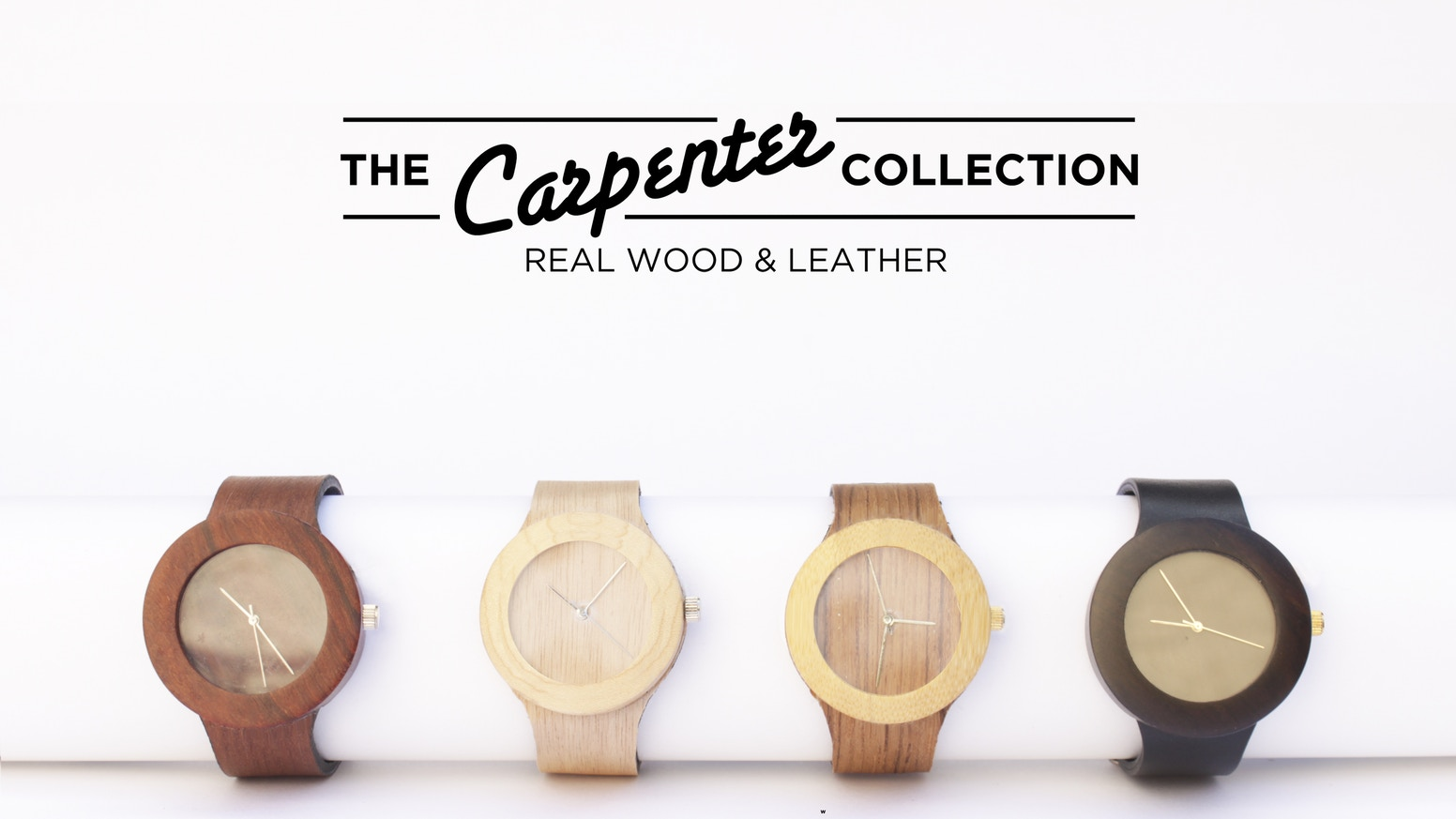 This is the first soft strapped watch made with 100% all-natural wood! A clean and minimal design to show off the wood's beauty.