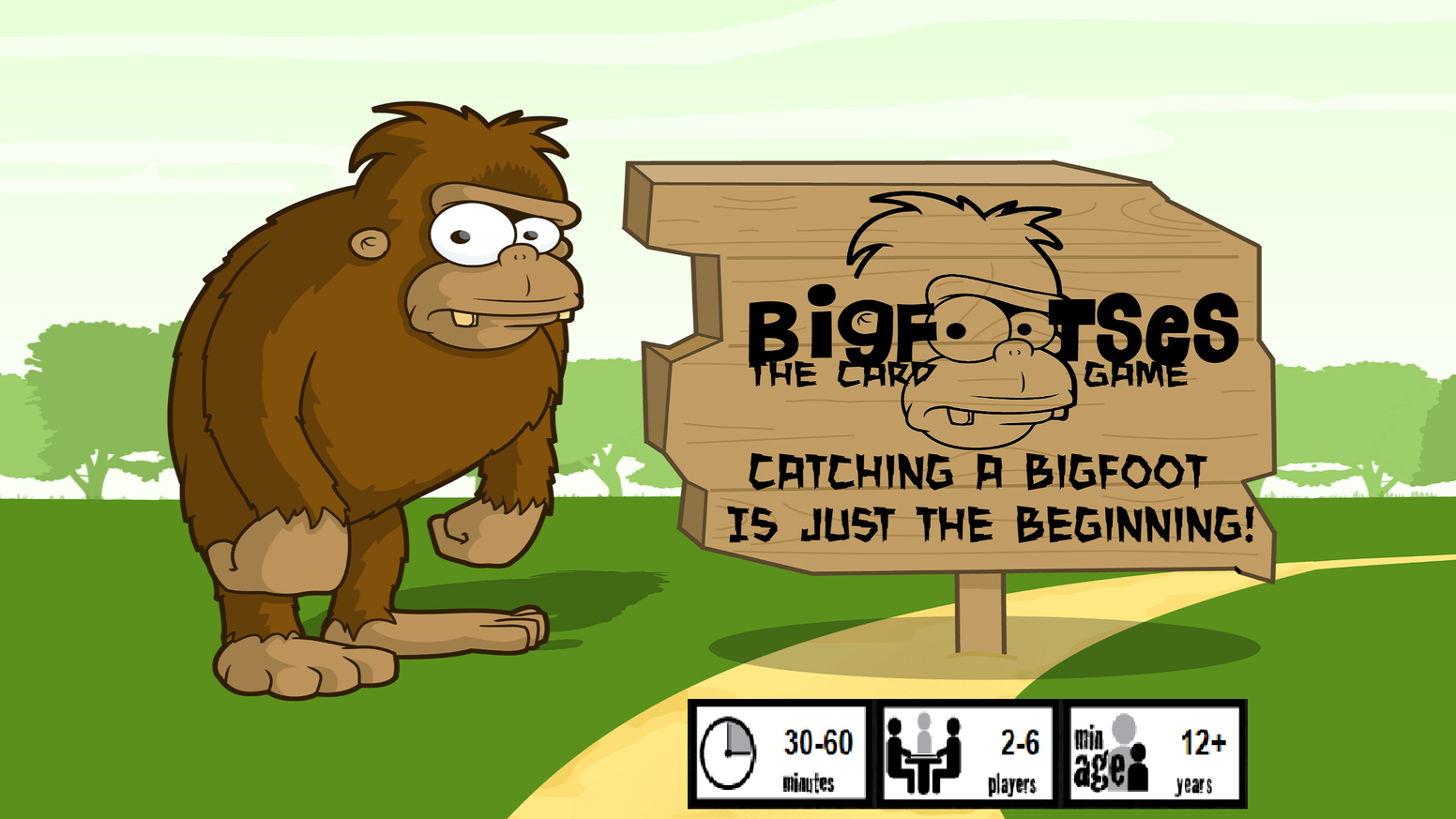 Anyone can find one Bigfoot, but can you be the first player to find and corral ten Bigfootses in this hilarious card game?