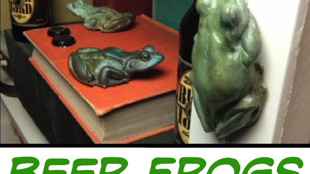 Bronze frog & tree frog beer bottle openers project video thumbnail