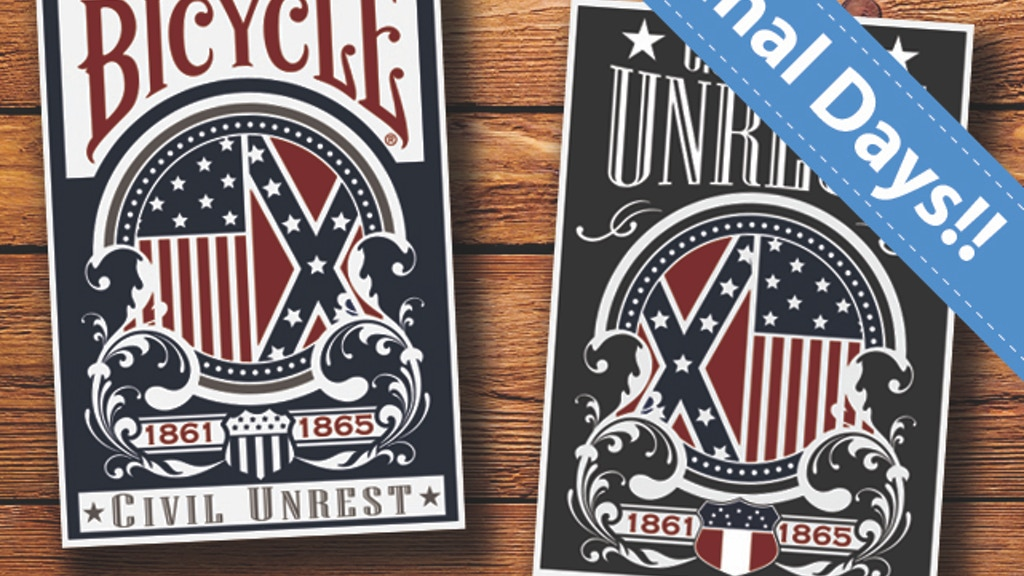 Civil Unrest Custom Playing Cards by USPCC project video thumbnail