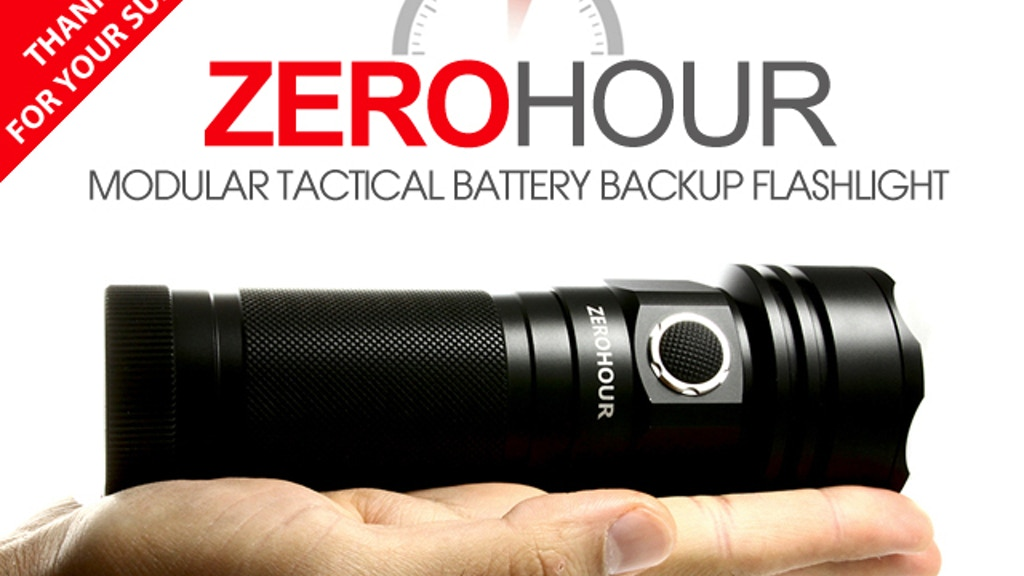 ZEROHOUR: Modular Tactical USB Battery Backup Flashlight project video thumbnail