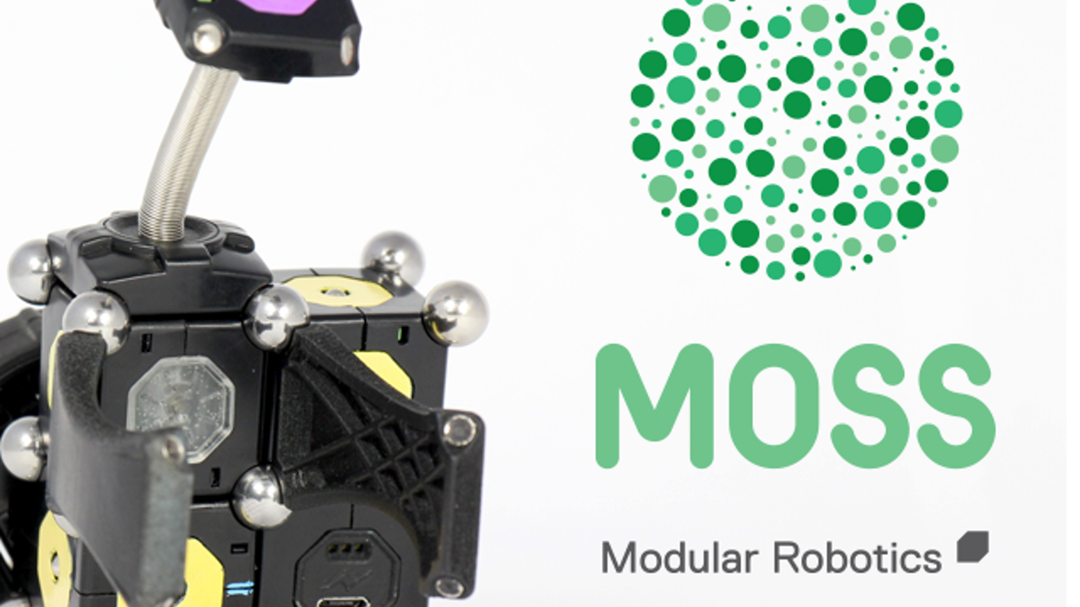 Build your own robots with MOSS! Simple, fun, magnetic robot construction kits. No coding, no wires, oodles of configurations!
