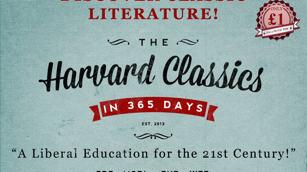 """Project image for A """"Liberal Education"""": 365 days of The Harvard Classics"""