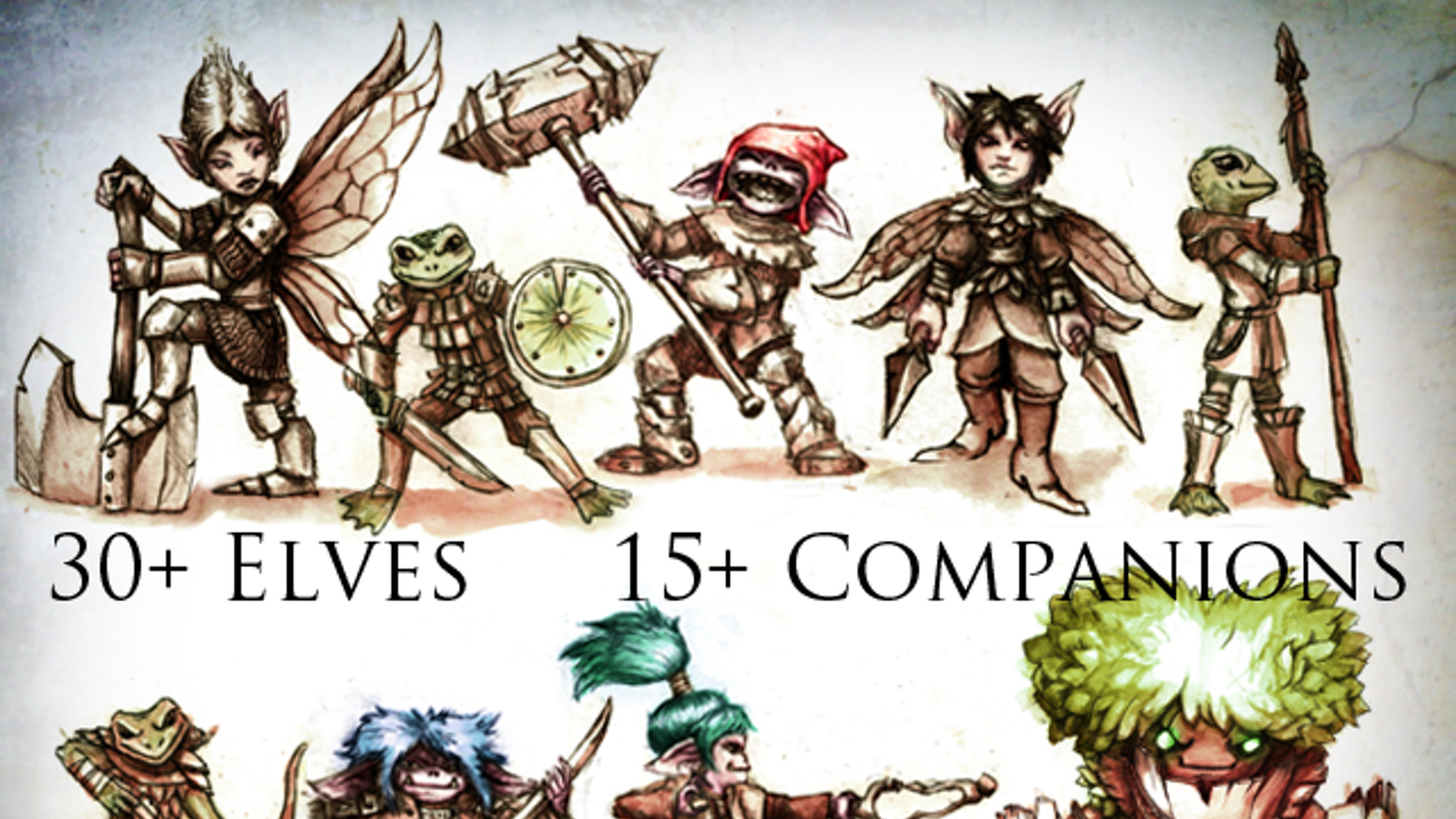 The Elven Adventurers Project will produce a set of Elven hero miniatures for dungeon-crawling, RPGs and 28mm tabletop wargames