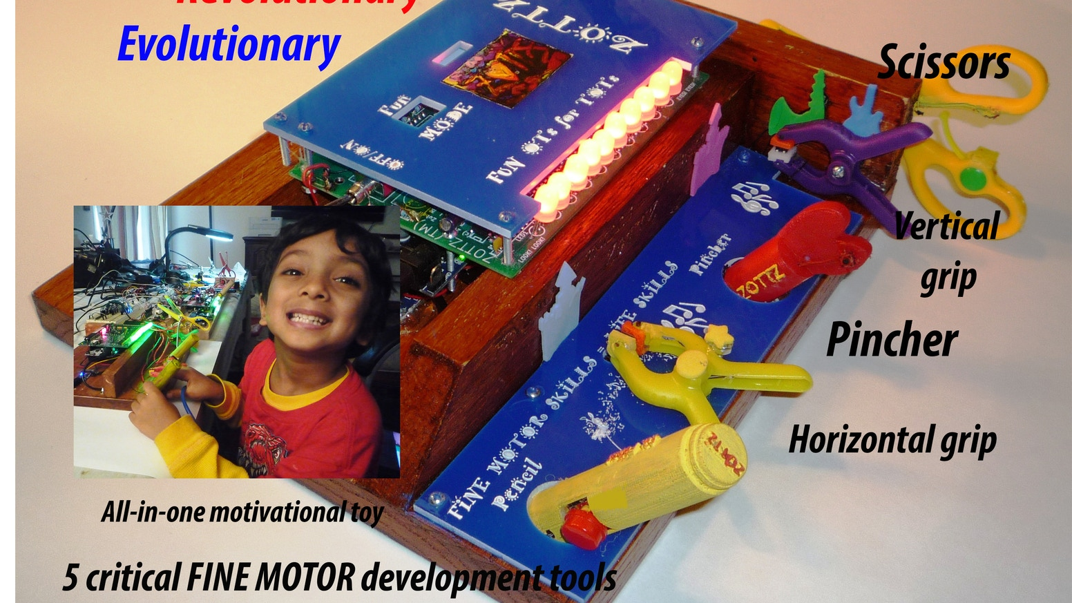 ZOTTZ is a learning platform for fine motor skills, focused fingers fighting autism, positive sensory feedback for occupational therapy