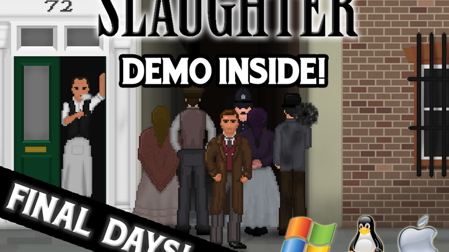 The Slaughter is a noir style point-and-click adventure game set in Victorian London in the shadow of a string of serial killings.