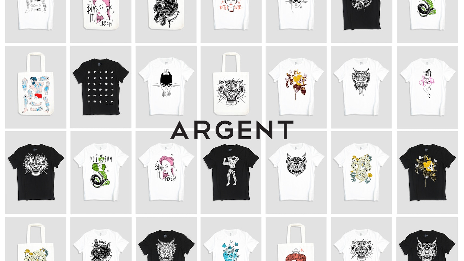 Design t shirt on illustrator - Argent Is A Fledgeling T Shirt Company That Delivers Handprinted Designs By Brooklyn Based Illustrator Adrien Dacquel