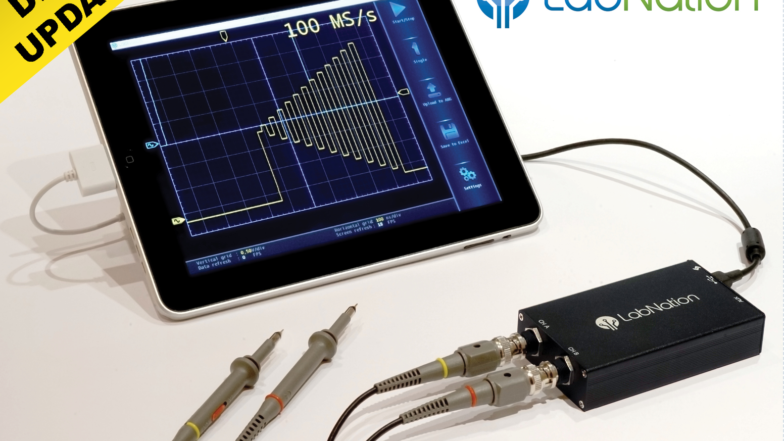 SmartScope - Reinventing the oscilloscope by LabNation » Ups and