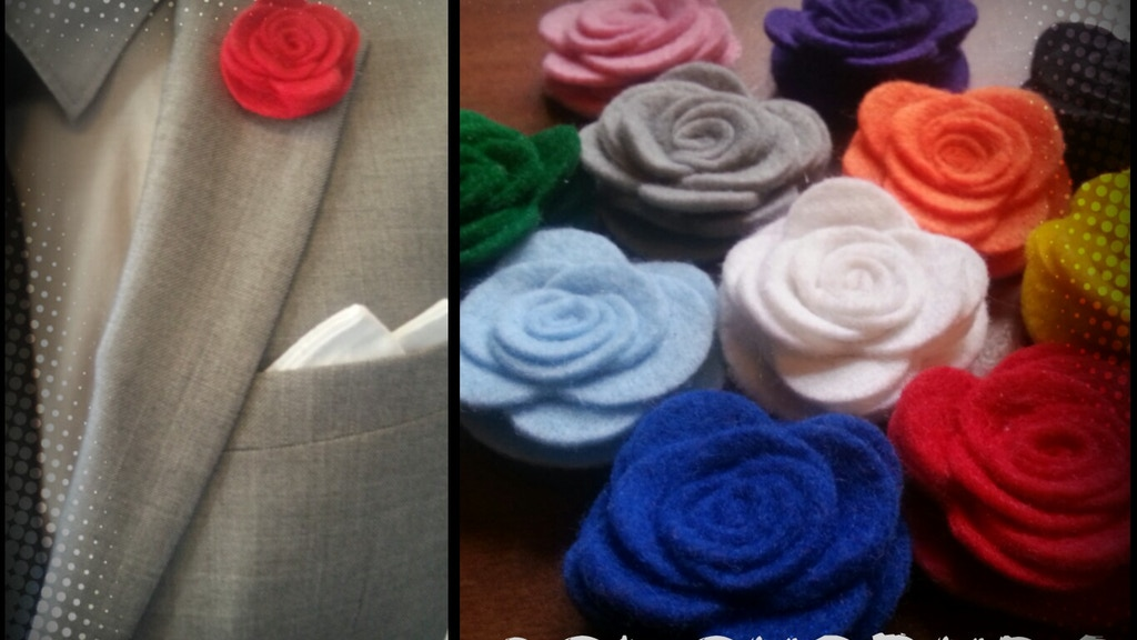 ColourBuds - Fabric Lapel Flowers Handcrafted in the UK by Kieron