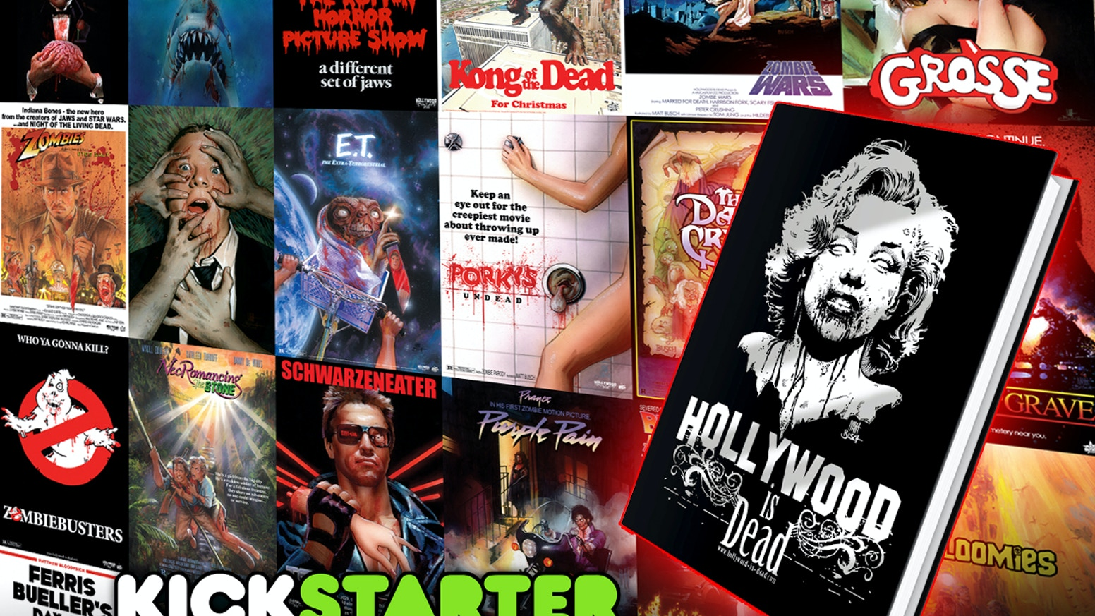 A collection of Hollywood's most iconic Movie Posters- all repainted by hand and Zombified by Matt Busch for your viewing pleasure.