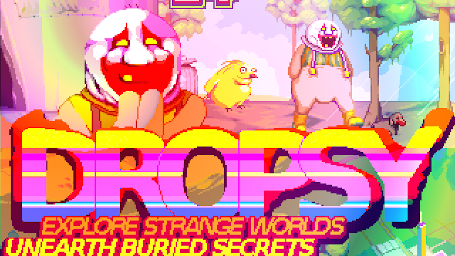 Impart love to a surreal, grotesque world as a misunderstood but cheerful clown. Discover a vast mythos in the process! PC/MAC/LINUX