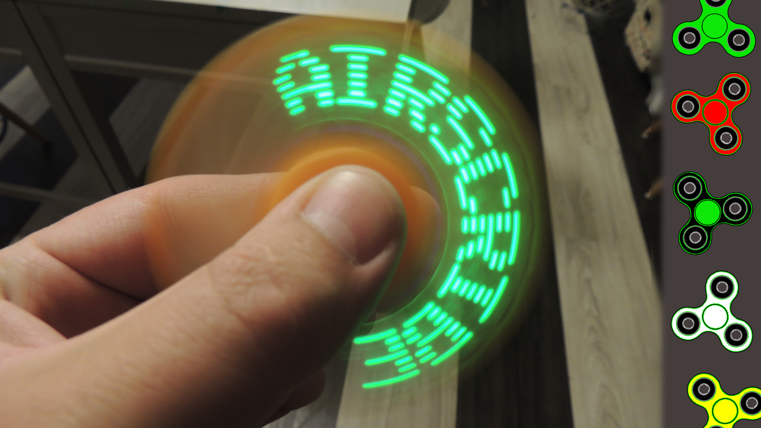 Air Scribe A Fidget Spinner With A Programmable Display
