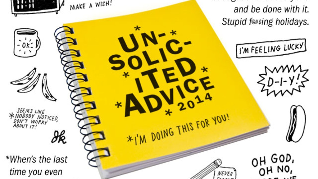 """2014 """"Unsolicited Advice"""" Weekly Planner & Journal project video thumbnail"""