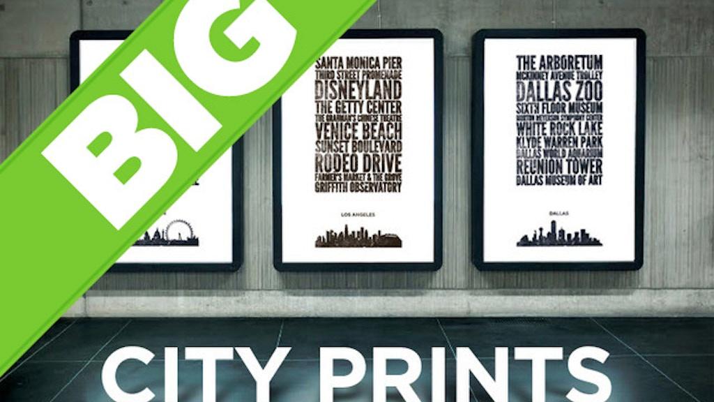 Big City Prints project video thumbnail