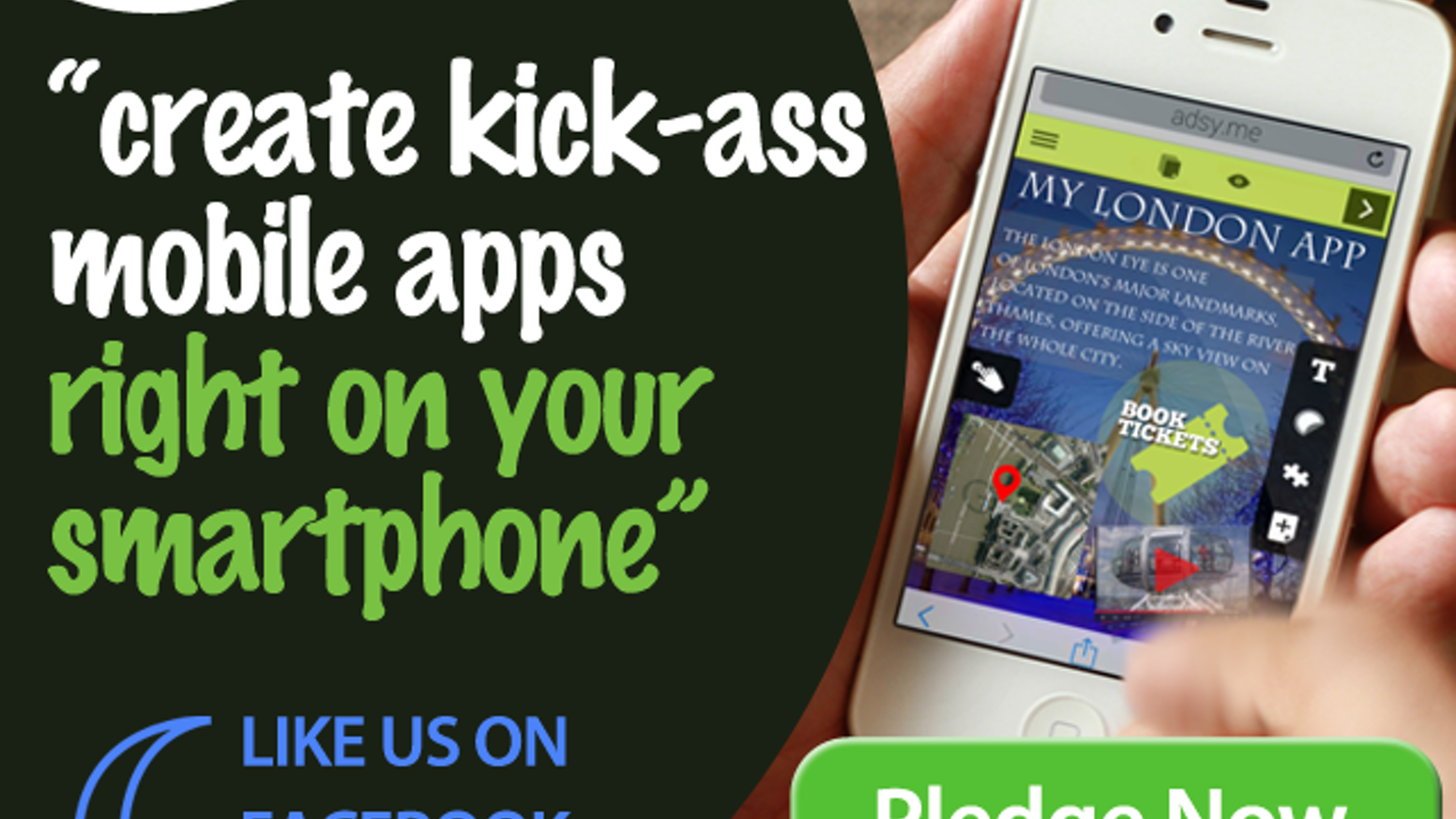 create kick-ass mobile apps on your smartphone: adsy by