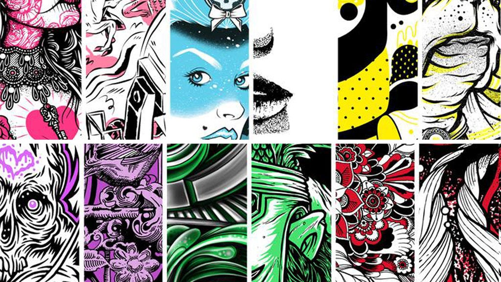 Skull & Heart Print Exhibition: The Colour Series project video thumbnail