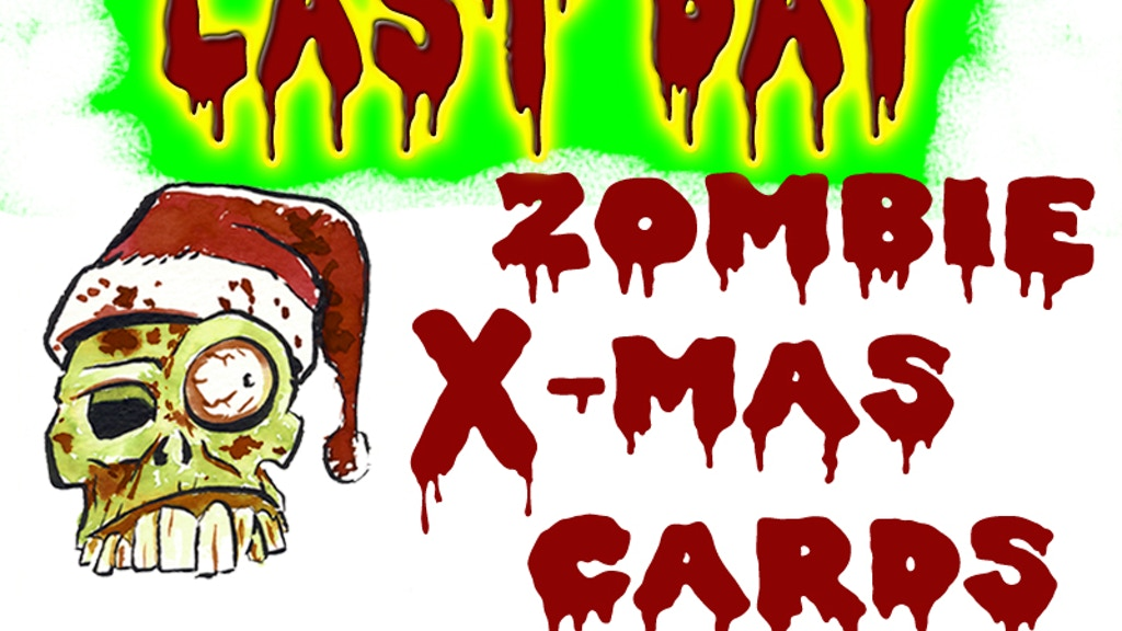 Zombie Christmas Cards project video thumbnail