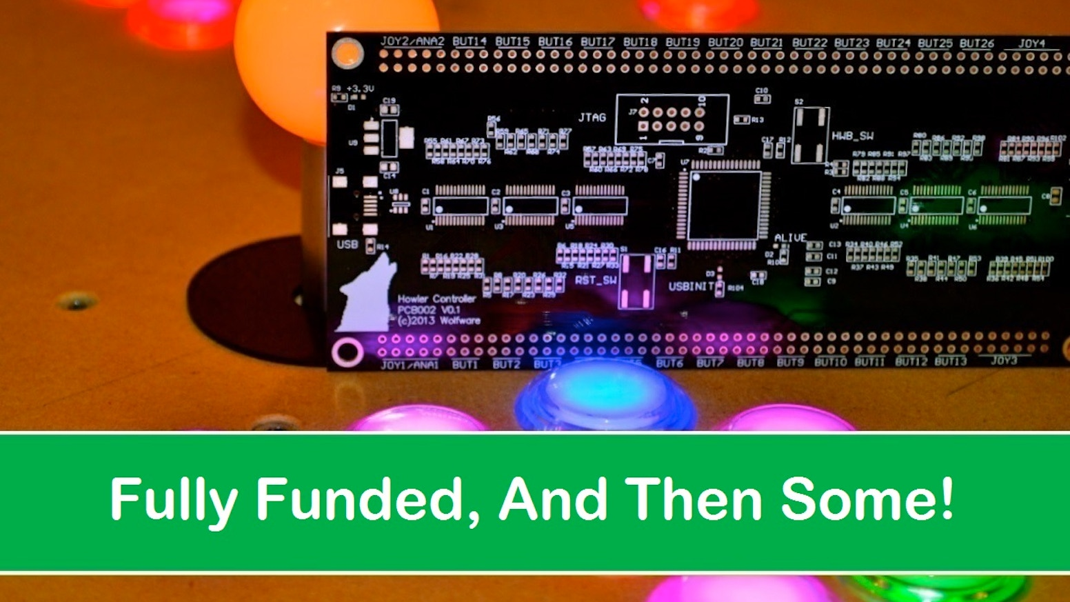 Howler Open Source Arcade Controller By Josh Wolf Kickstarter Pic16f628 Rgb Led Control Circuit Schematic The All In One Keyboard Mouse Joystick Drive Accelerometer