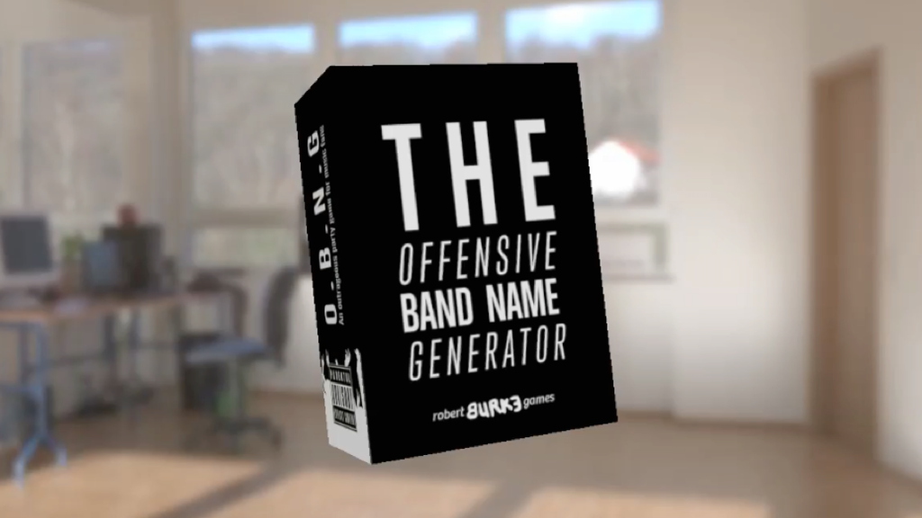 The Offensive Band Name Generator by Robert Burke — Kickstarter